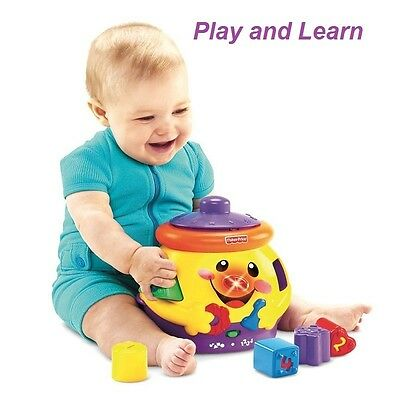 Shape Sorter Baby Music Toy Educational Learning Blocks Fisher Price Activity