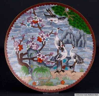 China 20. Jh. Teller - A Chinese Cloisonne Enamel Dish Piatto - Cinese Chinois