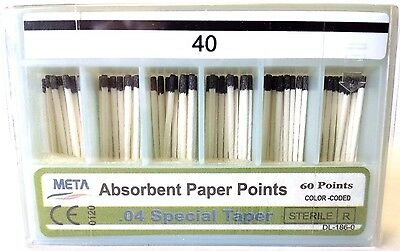 META ABSORBENT PAPER POINTS .04 SPECIAL TAPER #40 (60 PTS) paperpoint