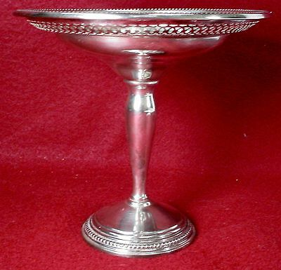FARMINGTON silver PIERCED COMPOTE sterling 6""