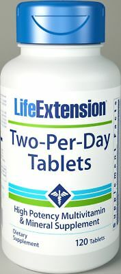 Life Extension, Multivitamin 2-pro-Tag (Two-per-Day), 120 Tabletten