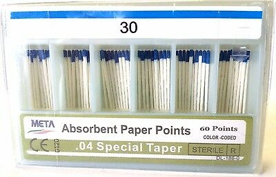 META ABSORBENT PAPER POINTS .04 SPECIAL TAPER #30 (60 PTS) BLUE paperpoint