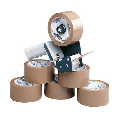 Packing Tape Dispenser Tape Gun Carton Sealer With 6 Rolls Brown Tape // Ma99111