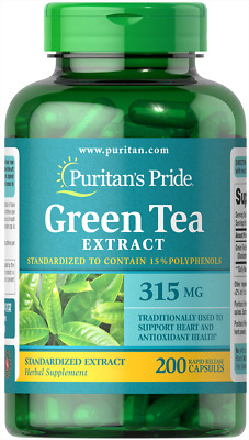 Green Tea 315mg X200 Capsules Puritans Pride Premium - Fat Burner / Weight Loss
