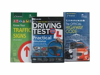 Driving Test Dvd - Know Your Traffic Signs And Highway Code Book - Gift Pack
