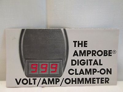 Vintage Amprobe Instrument ACD-1 Clamp On Volt Amp Ohmmeter Sales Brochure 1977