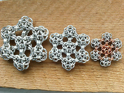 Hexverted round sheet weave Chainmaille DIY TUTORIAL PDF only
