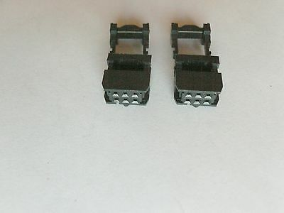 10x 2x3 Female IDC Connector with Strain Relief , 2.54mm, FC-6