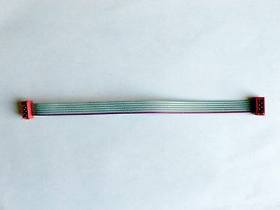 2x3 (6-pin) Micro-MaTch Connector Flat Ribbon Cable, 15cm