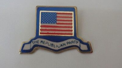 Vintage American Flag The Republican Party Lapel Tie Tac Pin