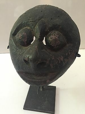 Rare Antique 19th Century Indonesian or South Pacific Mask Wood Carved