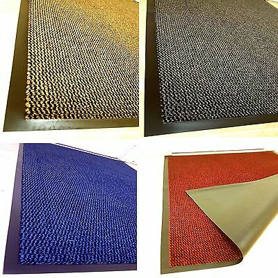 Heavy Duty Barrier Mat Large Small Kitchen Non Slip Rubber Back Door Hall Rugs