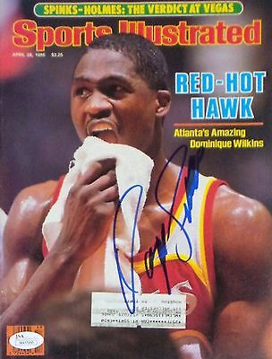 Dominique Wilkins Signed Autographed Sports Illustrated Magazine JSA Authentic