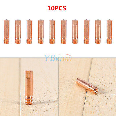 10PCS MB-15AK MIG MAG M6 0.8mm/1.0mm Metal Welding Torch Contact Tips HighQ