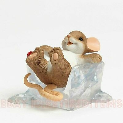 NEW IN BOX You're The Coolest CHARMING TAILS Ice Cube Figurine mice tales