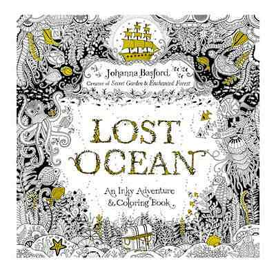 1 Pc Lost Ocean Adult Multicolor Inky Adventure Colorful Painting Book Kid Gifts