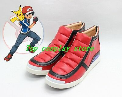 Pokemon Pocket Monsters XY Ash Ketchum cos Cosplay Shoes Boots shoe boot