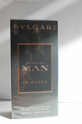 BULGARI MAN IN BLACK SHAMPOO AND  SHOWER GEL - 200 ml