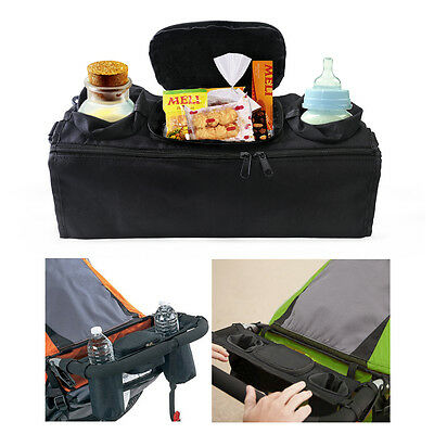 Pram Buggy Stroller Food Holder Storage Bag Pushchair Cup Bottle Drink Organiser