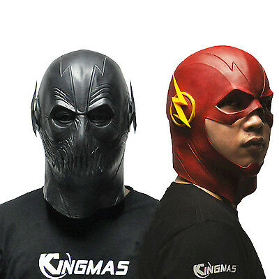 The Flash Mask Movie Cosplay Costume Prop Halloween Full Head Latex Party Masks