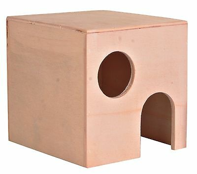 Wooden Hamster House for Small Animals Gerbils Mice & Dwarf Hamsters