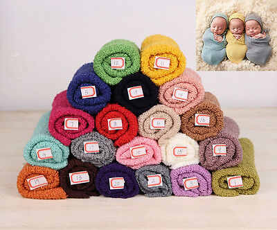 Newborn Baby Girl Boy Knit Swaddle Wrap Blanket Photography Bedding Muslin Bag