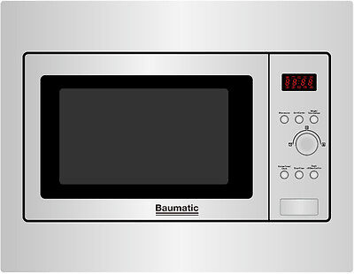 Baumatic BMIC4625 | 25 Litre Built-in Combi Microwave Oven & Grill in S/Steel