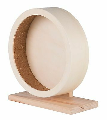 "Smooth & Quiet Wooden Exercise Wheel & Stand for Mice & Hamsters 21cm (8.25"")"