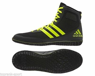 Adidas Mat Wizard 3 Black/Yellow Wrestling Boots Shoes Adults Mens Pro