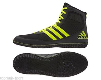 Adidas Wrestling Mat Wizard 3 Black Yellow Boots Shoes Adults - S77969
