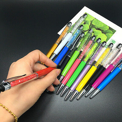 10PCS New Gift Crystal Ballpoint Pen With Fashion Elements WITH Touch Screen