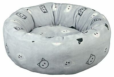 Mimi Cat Bed with Soft Plush Removable Cover & Reversible Cushion Non-Slip