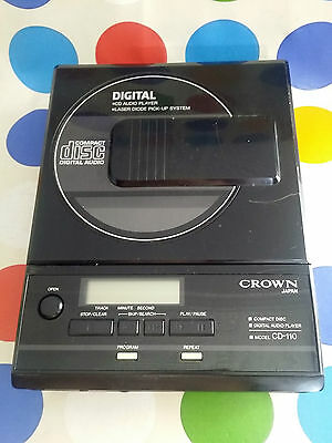Crown Discman Cd-110 Rare And Working !  - Serious Offers Are Welcome !