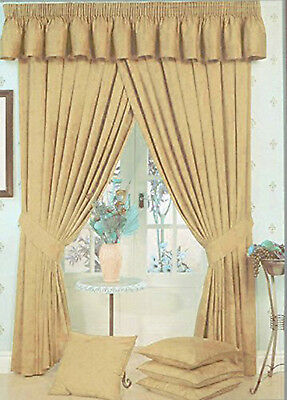 Lauren Fully Lined Pencil Pleat/Tape Curtains Marble Effect Beige