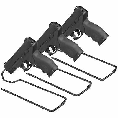 Handgun Pistol Vinyl Coated Metal Stand Rack Safe Storage Solution Pack of 3 NEW
