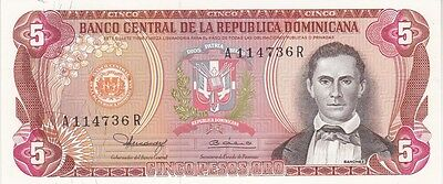REPUBLIQUE DOMINICAINE : 5 PESOS 1980 NEUF - P.118b