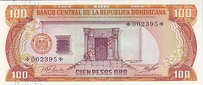 Republique Dominicaine : Rare 100 Pesos 1977 Specimen Emission Speciale - P.cs4