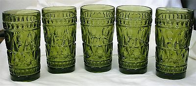 5-Avacado Indiana Glass Glasses