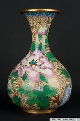China 20. Jh. A Chinese Cloisonné Pear Shaped Bottle Vase - Vaso Cinese Chinoise