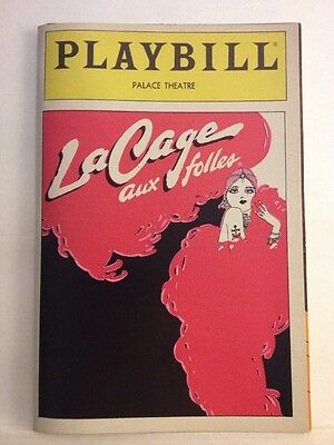 Playbill La Cage Aux Folles at Palace Theatre March 1984! George Hearn!