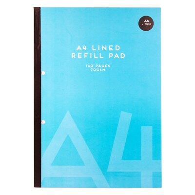 A4 Ruled Lined Book Note Pad home School Office 100 PAGES