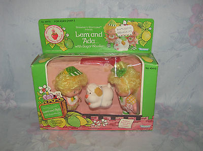 Vtg Strawberry Shortcake Lem and Ada, Sugar Woofer - New in Opened Box