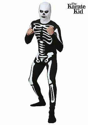 karate kid skeleton mens halloween costume size small medium large or xl
