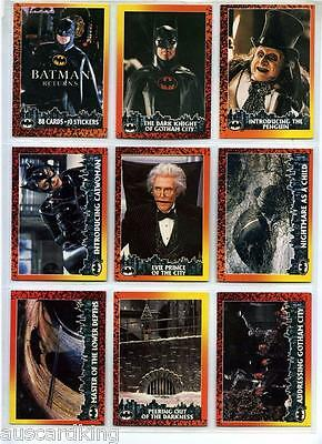 Batman Returns - Trading Card Set (88/10) - 1992 TOPPS - NM