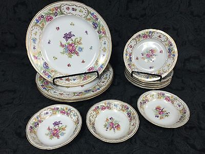 Reproduction Lot of 11 Schumann Bavaria / Germany Plates Empress Dresden
