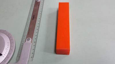 "1-1/2"" x 1-1/2"" X 7-1/4""  URETHANE / POLYURETHANE 80 A ORANGE BAR P/N 11549"