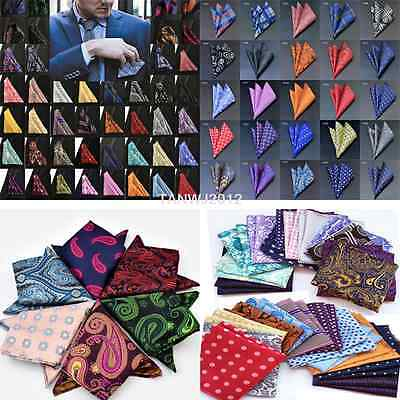 "100 Color 10""  Men's Vintage Handkerchief 100% Silk Man Pocket Square Suit Hanky"
