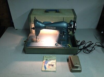 Vintage White 658 Sewing Machine w/ Case & Footswitch