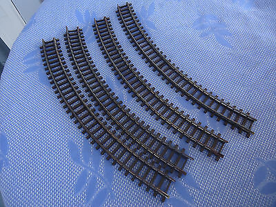 4 vintage triang tri-ang oo scale curved model train railway tracks r483
