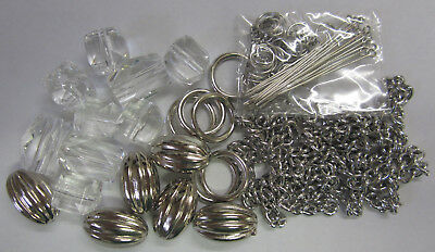 New Crystal Beads & Silver Gatsby Necklace Beading Kit with Instructions TAR121